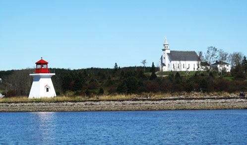 Lighthouse and Church
